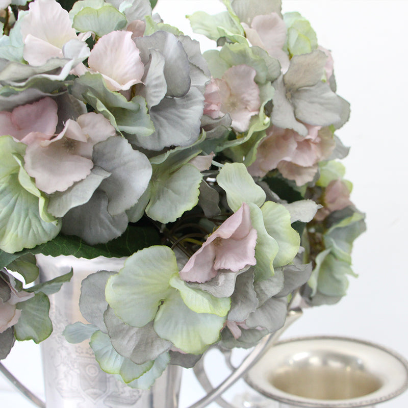 "Silk Hydrangea Bloom Bunch in Green 21"" Tall"