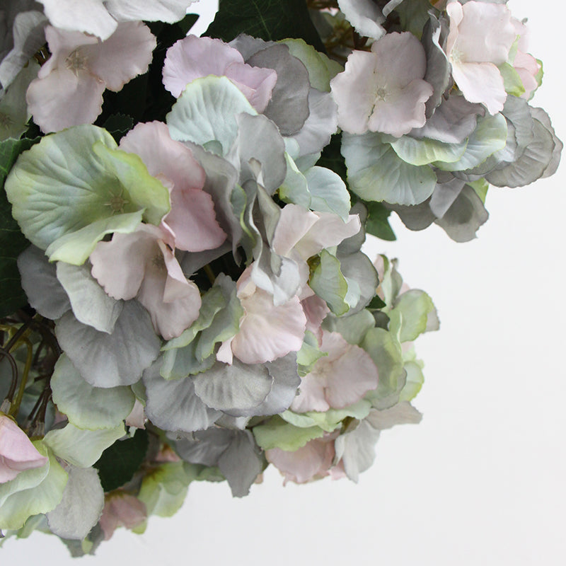 "Silk Hydrangea Bloom Bunch in Mixed Blue Pink and Green 18"" Tall"