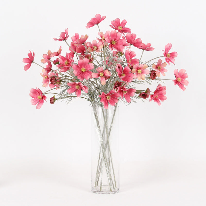 "Silk Cosmos Stem in Pink 24"" Tall"