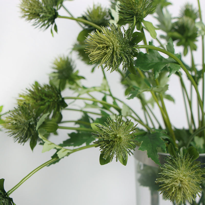 "Artificial Eryngium Flower Stem in Green 24"" Tall"