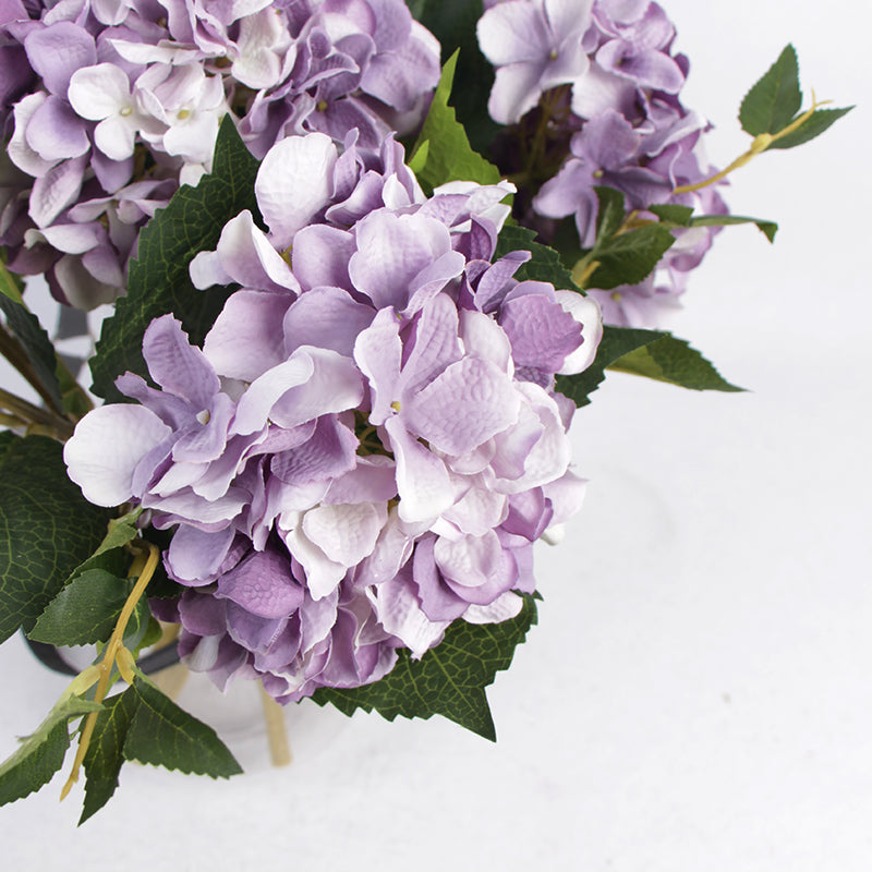 "Silk Hydrangea Stem in Light Purple 18"" Tall"