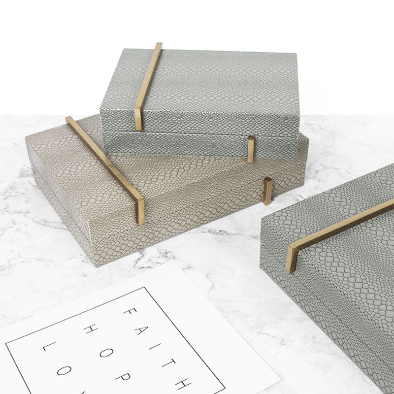 Snake Skin Pattern Jewelry Box