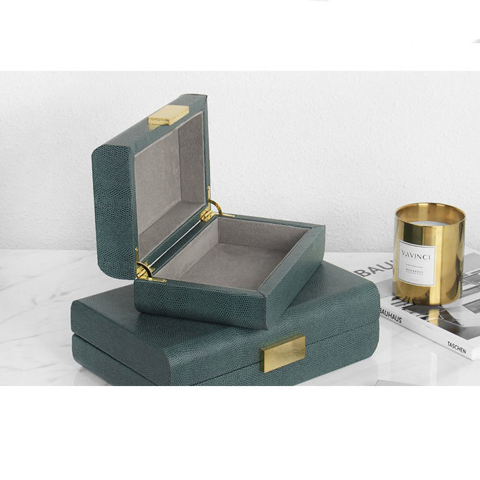 Gold Button Jewelry Box