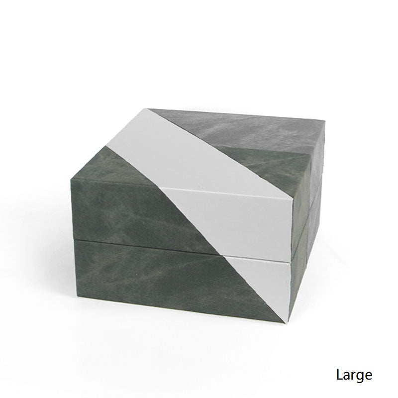 Modern Trio Color Square Box Decorative Leather Box