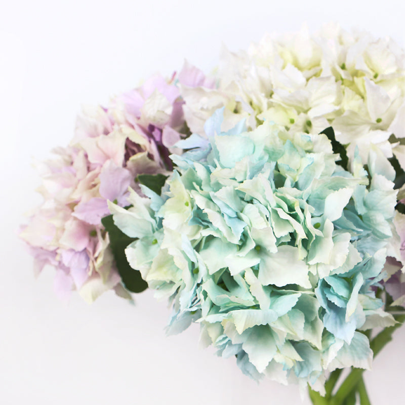 "Silk Hydrangea Lacecap Short Stem in Various Colors 13"" Tall"