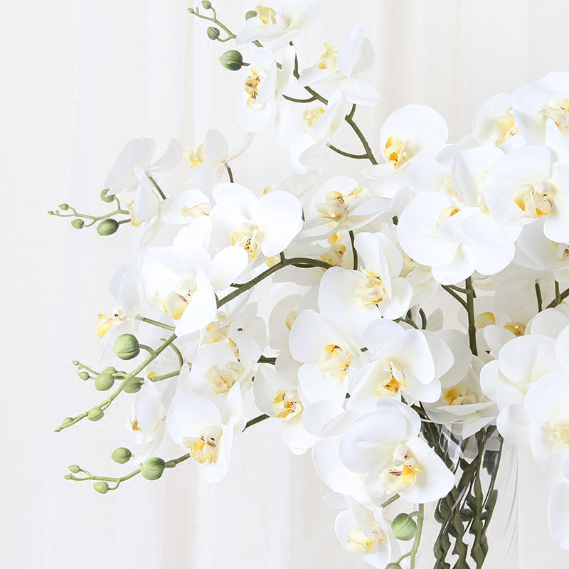 "Real Touch Butterfly Orchid Stem in White 34"" Tall"