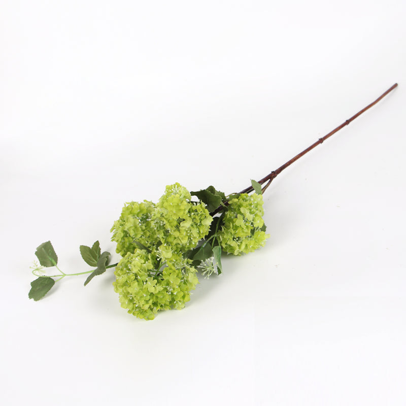 "Small Green Hydrangea Bloom Stem 28"" Tall"