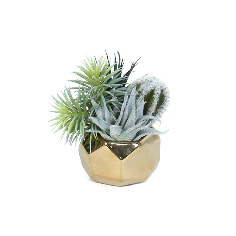 "Artificial Succulent Cactus Plant Arrangement Small 7"" Tall"