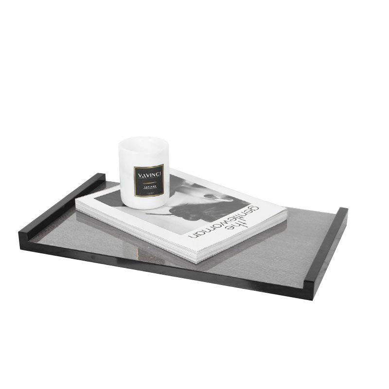 Modern Black Gray Wood Tray