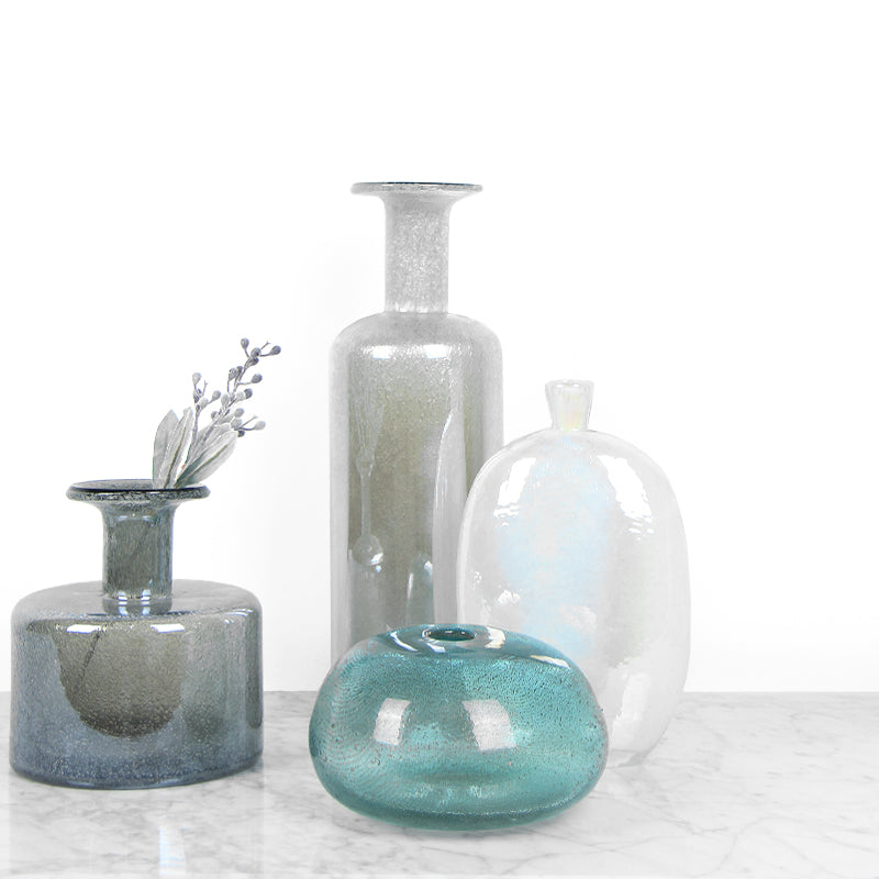 Hand Blown Bubble Glass Vase