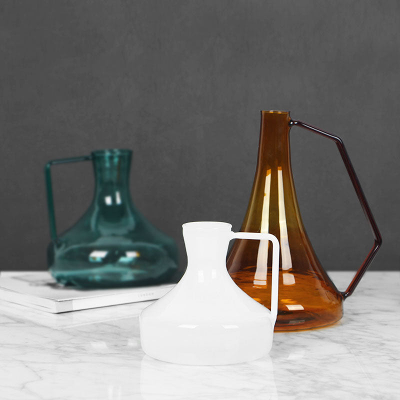 Colorful Kettle Style Glass Vase