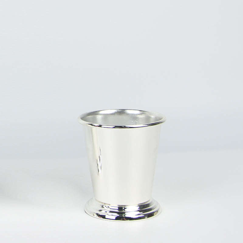 Ice Bucket Style Vase in Silver