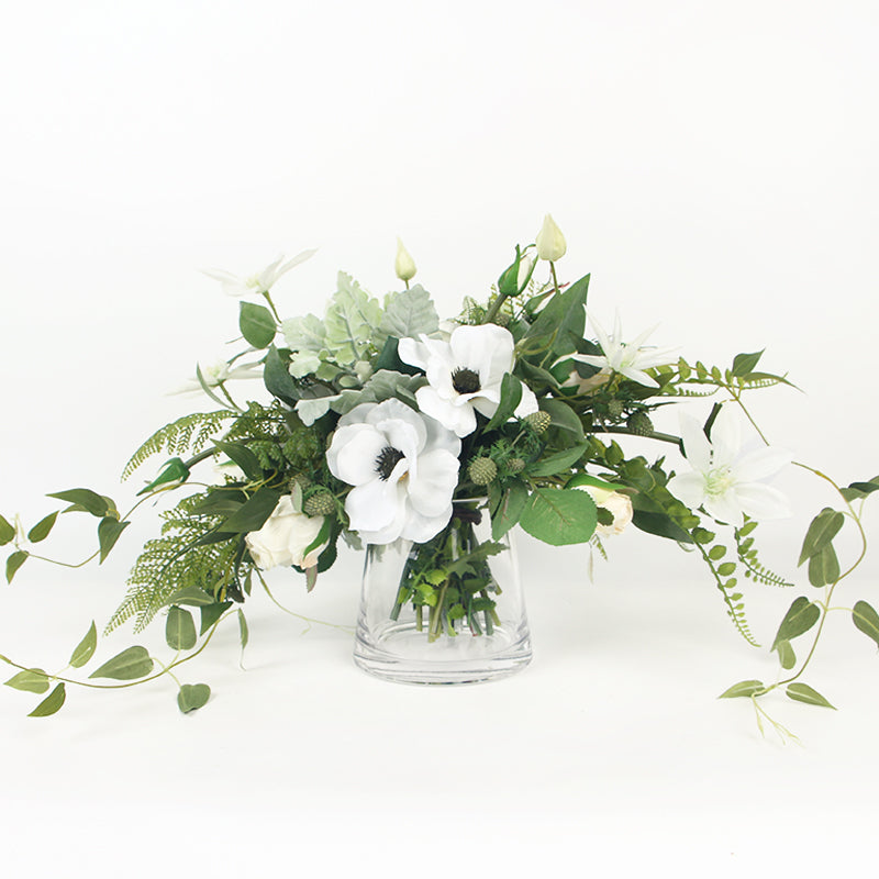 White Rose in Desert Artificial Floral Arrangement