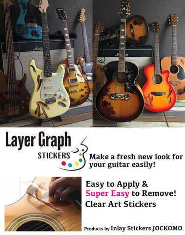 guitar sticker - layer graph