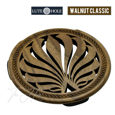 LuteHoles Soundhole Cover (Walnut Classic)
