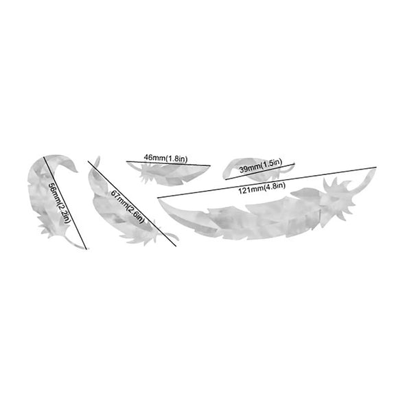 White Feathers (Set of 5)