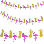 Flamingo & Pineapple Banner Glitter