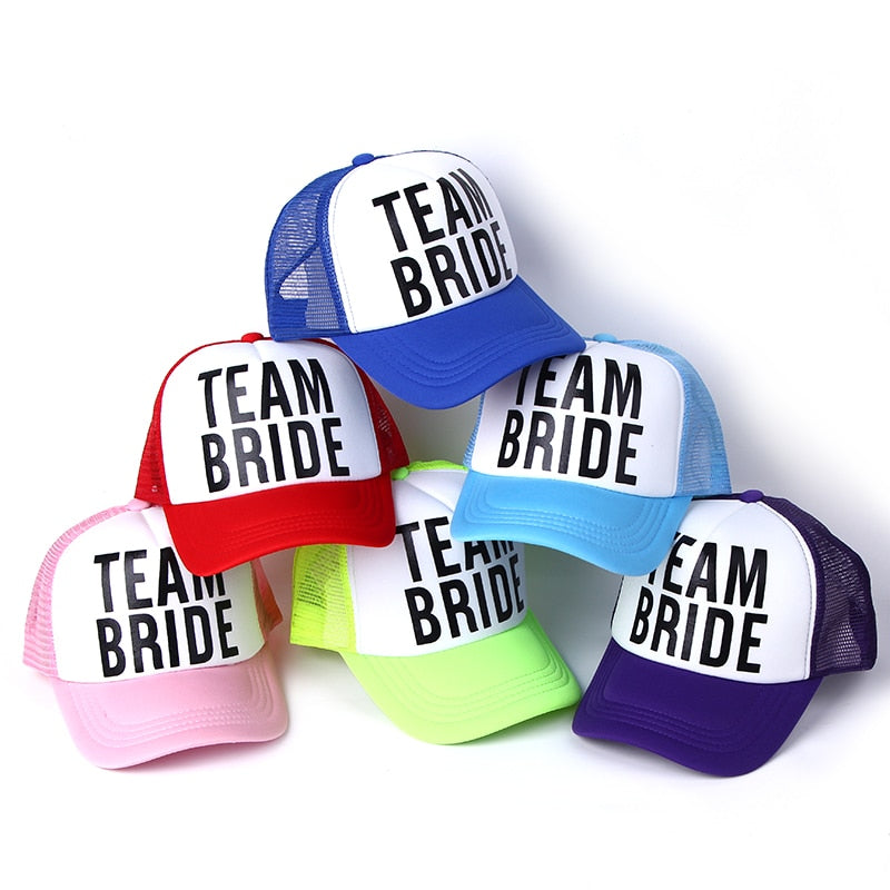 Team Bride Power Rangers Hats