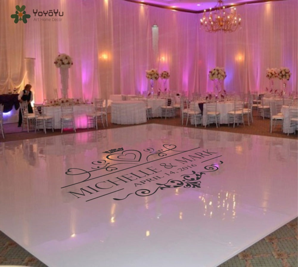 Wedding Dance Floor Heart Decal