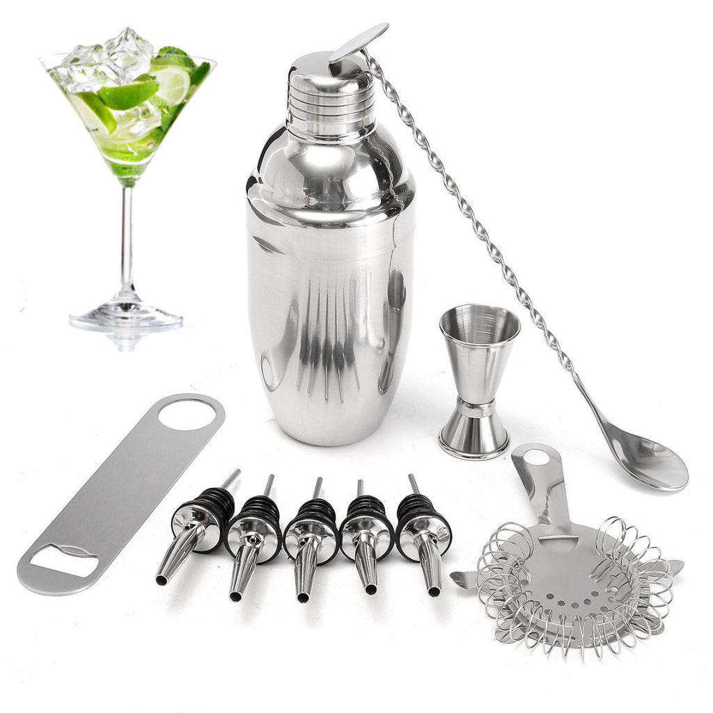 10 Piece Stainless Steel Cocktail Mixer