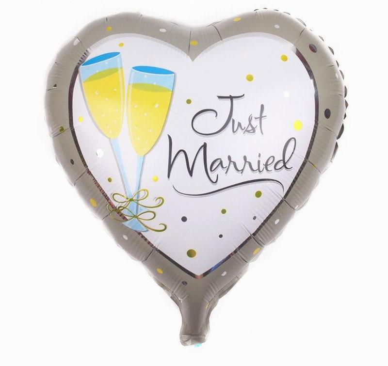 Just Married Champagne Balloon