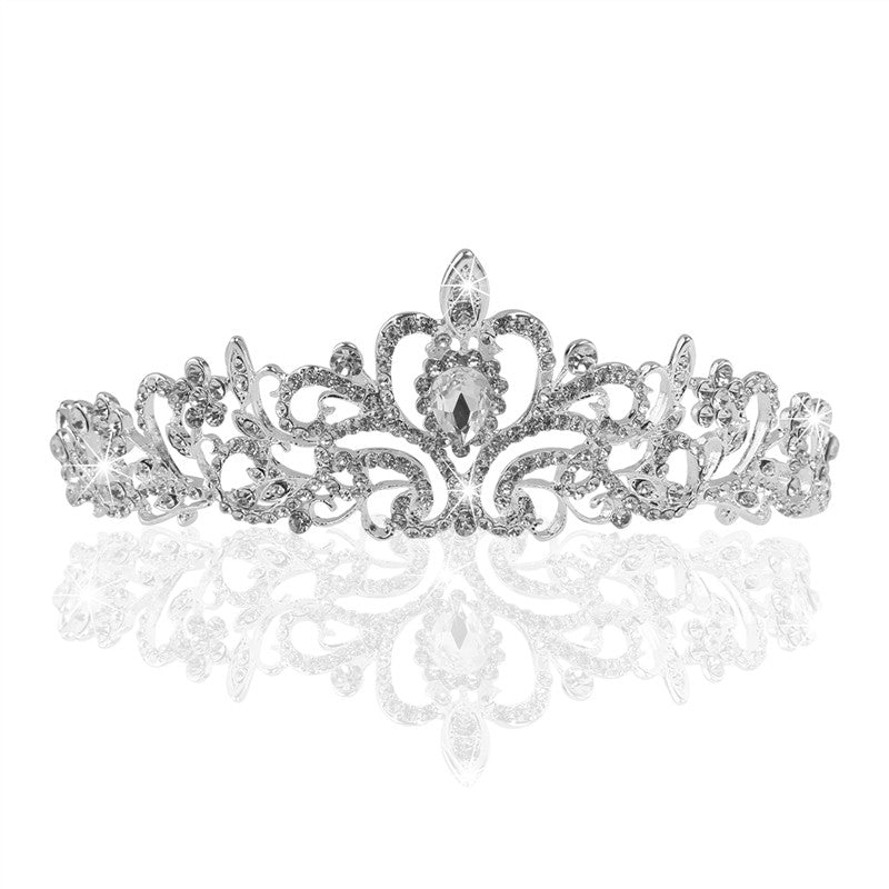 White Diamond Shining Crystal Tiara