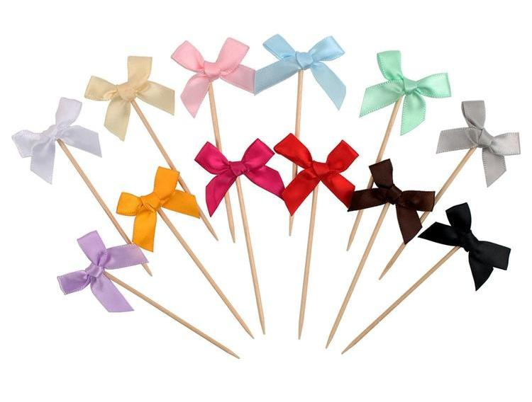 12 Pieces - Bowtie Toothpicks