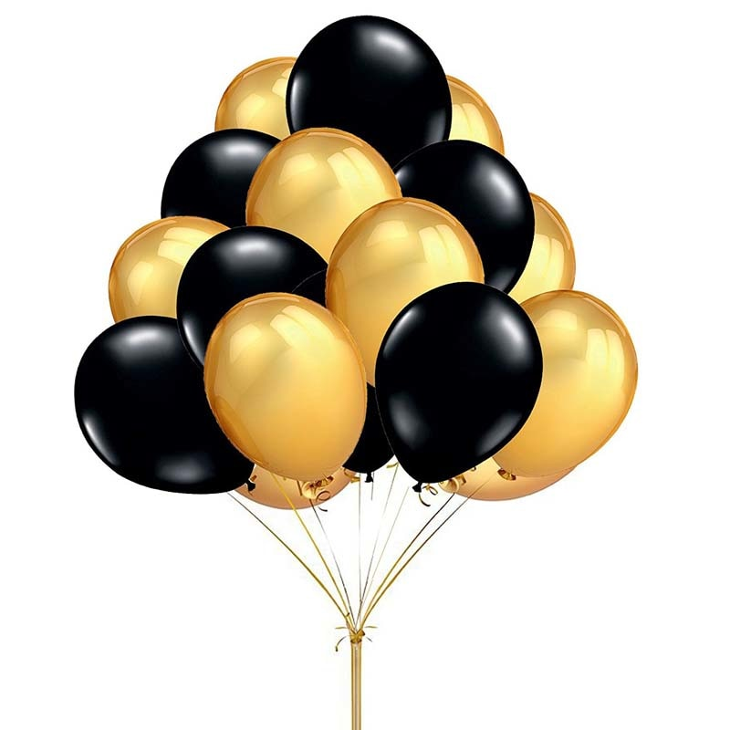 Gold Or Black Latex Balloon