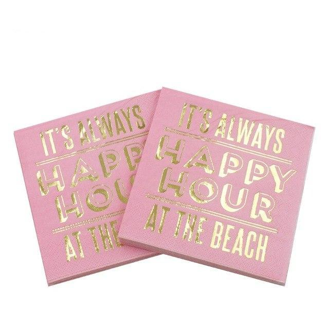 Happy Hour at the Beach Napkins