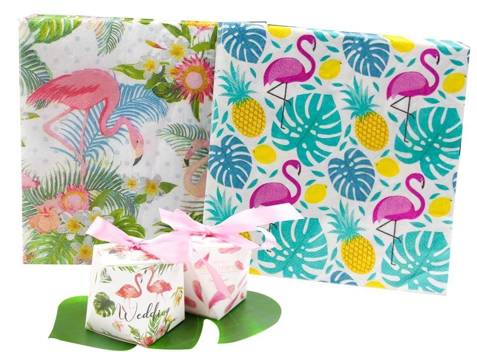20 Pieces Flamingo Colourful Paper Napkin