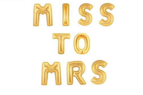 Miss to Mrs Letter Balloons