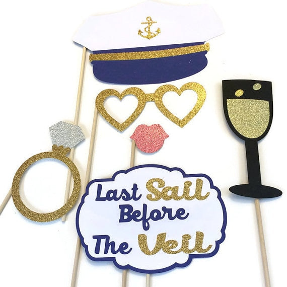 Last Sail Before the Veil Photo Booth Props
