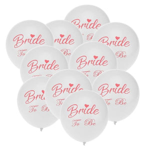 10 Pieces 12-inch Pink Team Bride Balloons