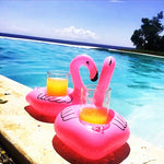 10 Pieces Flamingo Inflatable Drink Cup Holder