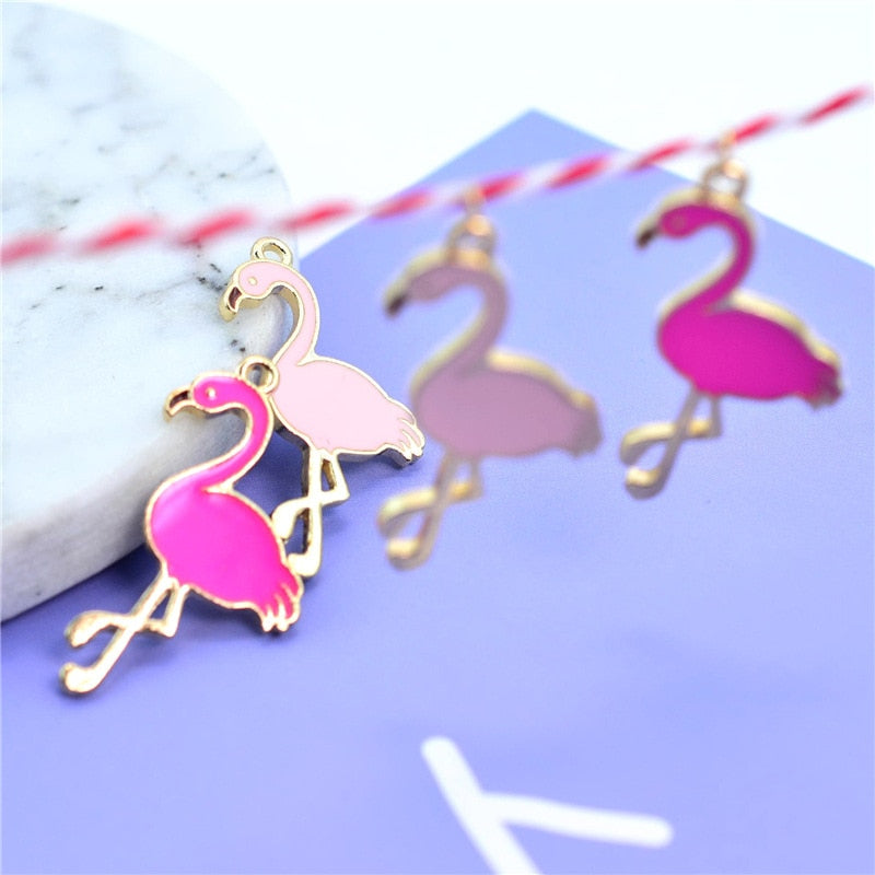 2 Pieces Flamingo Pendant
