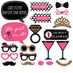 20 Pieces of Pink Photobooth Props