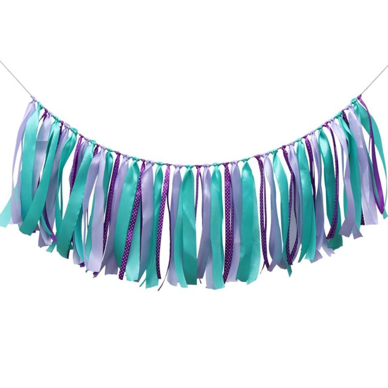 Mermaid Ribbon Banner & Tassels