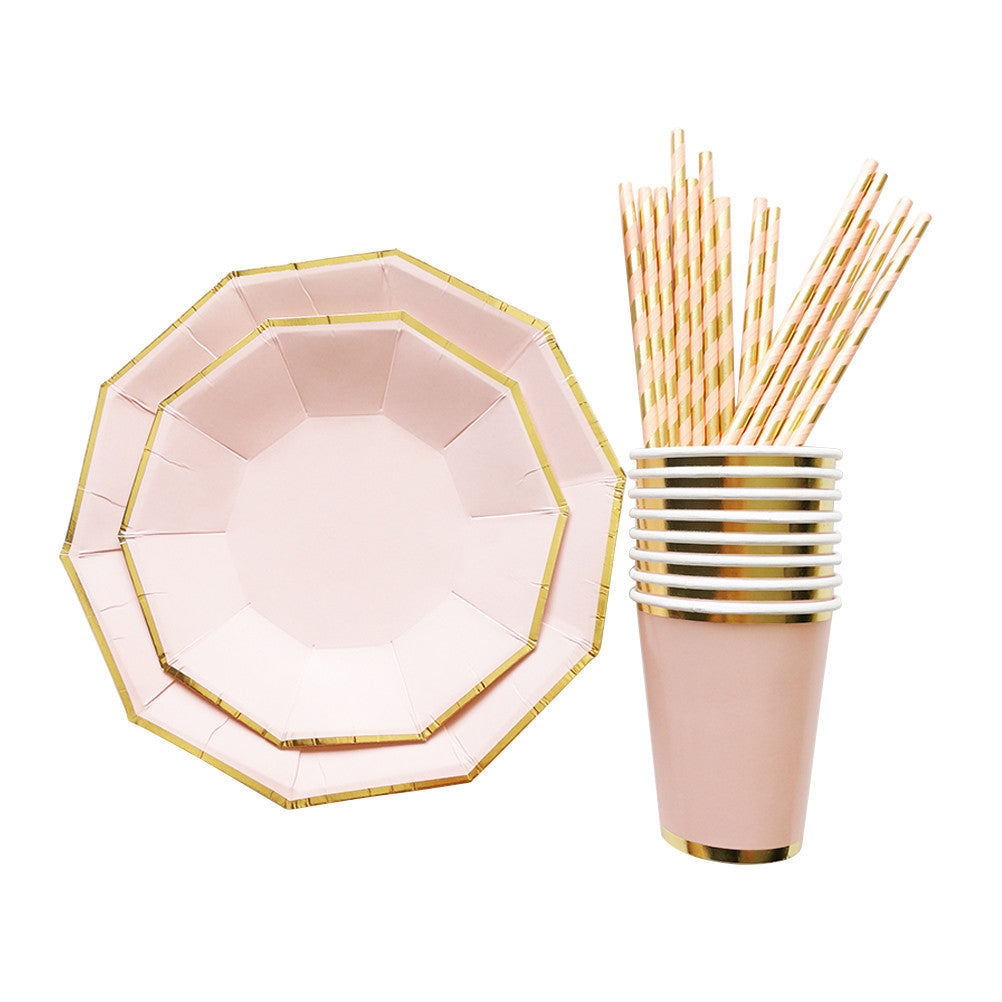 Luxurious Gold Foil Disposable Cups