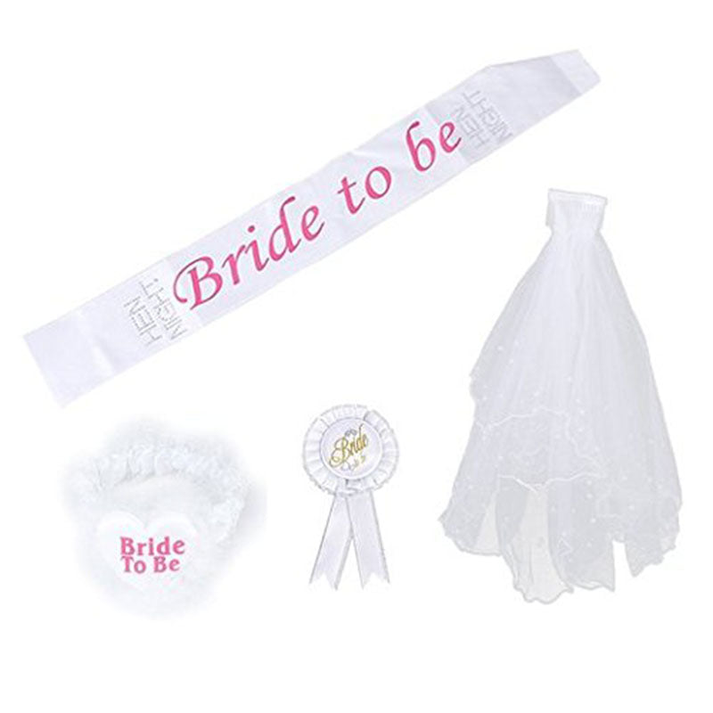 Bride to Be Badge Rose Sash Package