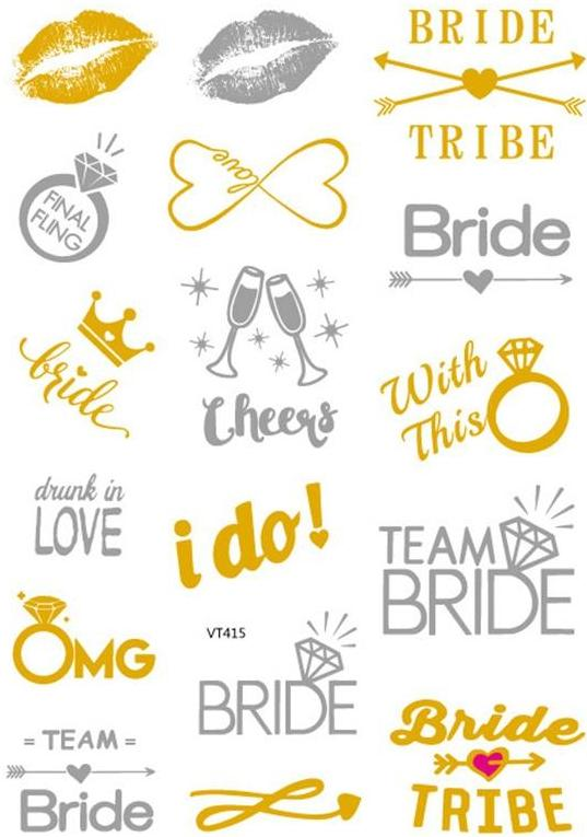 Bachelorette Party - Gold Stickers