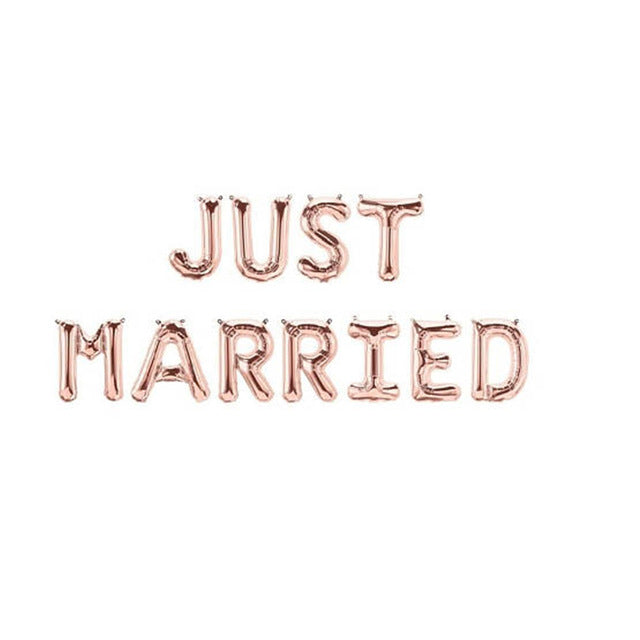 Just Married Letter Balloon