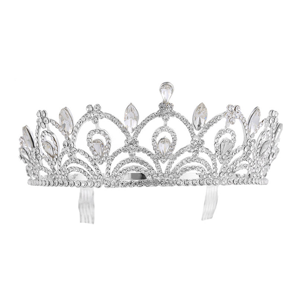 Bridal Hairband Crystal Pearl Tiara