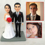 Custom Clay Bride & Groom Bobblehead