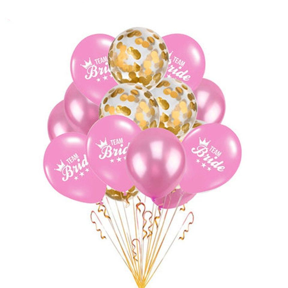 Team Bride Pink Luxurious Balloons