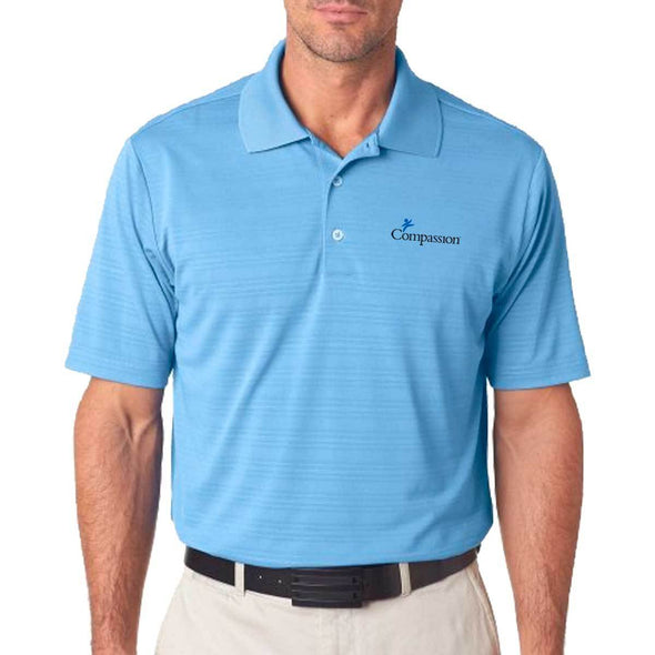 Compassion Adidas Golf Men's Climalite Textured Polo Light Blue