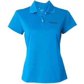 Compassion Adidas Golf Women's Climalite Pique Polo Blue