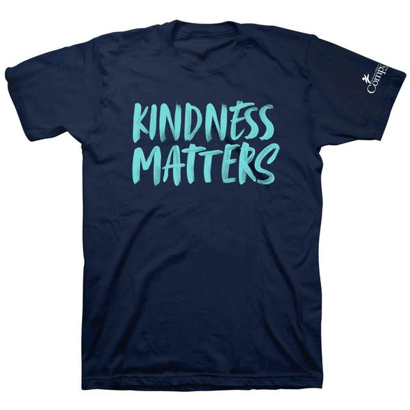 Compassion Adult T-Shirt - Kindness Matters Navy