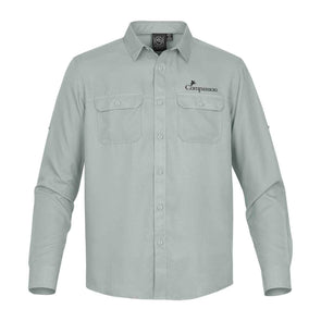 Compassion Mens Safari Long-Sleeve Shirt Small / Steel Blue Apparel