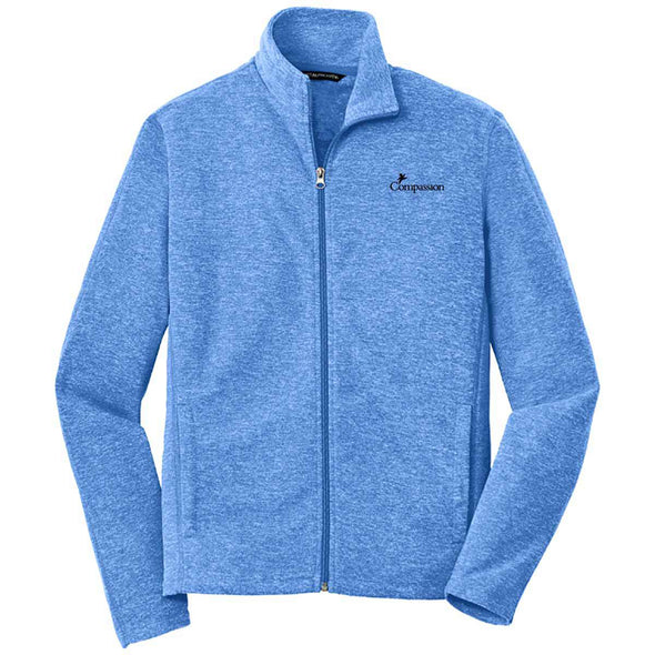 Compassion - Mens Zip Jacket Small / Heather Royal Apparel
