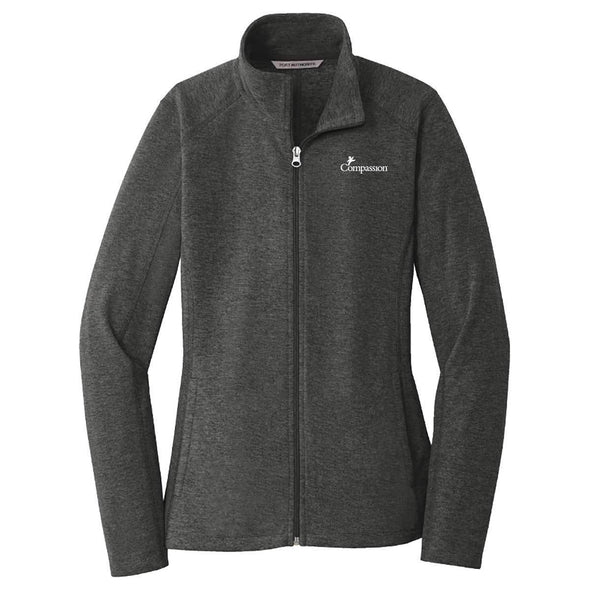 Compassion - Ladies Zip Jacket Small / Black Charcoal Apparel
